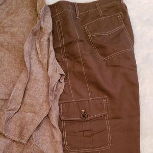 Linen Cargo pants with Linen top